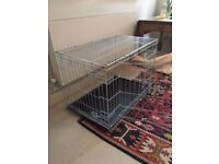 Dog Crate - almost new. Large, 2 door.