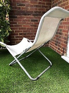 Folding Reclinable Garden Chair Rust Proof Frame Mesh Seat Very