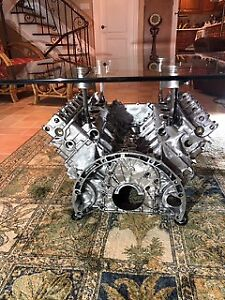 Mercedes-Benz V6 Custom Coffee Table Engine