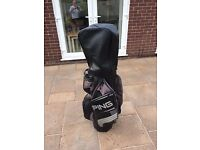 Ping cart bag 14 dividers, putter holder sexcellent condition