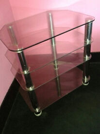 Four-tier Glass TV Stand