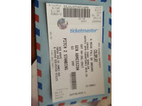 Cold Play Ticket - Saturday - 8th July 2017