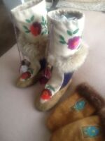 One of a Kind Native Mukluks & Moose Hide Mitts