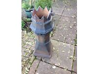 Victorian Salt glazed crown top chimney pot - genuine