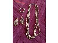 Necklace, Bracelet and Earings - vintage