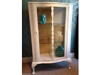 Cream Display Cabinet, Renovated Shabby Chic, Beautiful Addition to any home £120