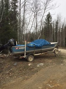 excellent boat and motor, trailer ready for the water.