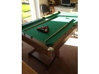 6ft pool table with table tennis top