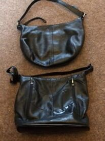 TWO LADIES, IMMACULATE LEATHER HANDBAGS NOT A MARK ON THEM
