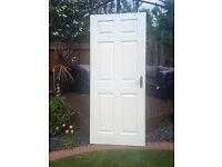 INTERNAL 6 PANEL DOOR INC FITTINGS / HANDLE