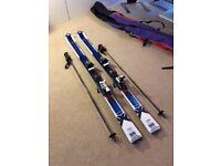 Salomon X-Wing Blast Skis with bindings, poles and ski-bag
