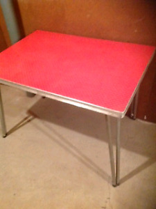 Retro Red and Chrome Table