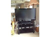 Panasonic 37 inch flat screen HD Freesat TV with stand
