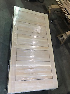 5 Panel Vertical Grain Douglas Fir door slabs