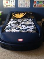 Little Tykes Toddler Car Bed with Mattress