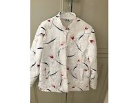 Fabulous white patterened padded Chinese jacket