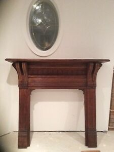 Antique Wooden Fireplace Surround - $225