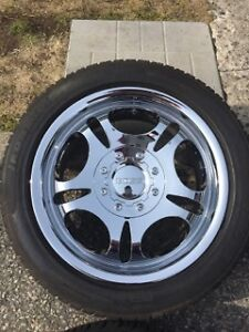 4x 17inch chrome rims with 80% tread  $700 OBO