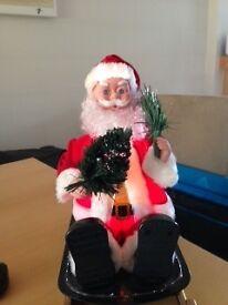 Santa Fibre Optic on sleigh