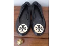 Beautiful condition black Tory Burch heels - UK 6, US 8