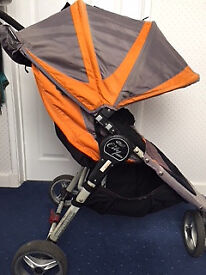 Baby Jogger City Mini pushchair (orange/grey) and raincover - other accessories available