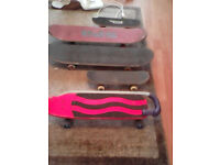 5 skateboards one beginners skateboard with balancing handle 10 pound the lot