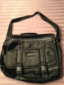NEW LEATHER LAPTOP, MEDIA BAG