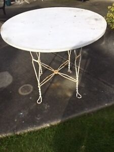Vintage Wrought Iron Based Table
