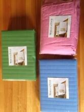 Valance NEW Single Bed Padded Split Morgan Finch Green Pink Blue Vermont South Whitehorse Area Preview