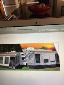 Travel Trailer Screen Room - NEW!  18' plus RV Ground Mat