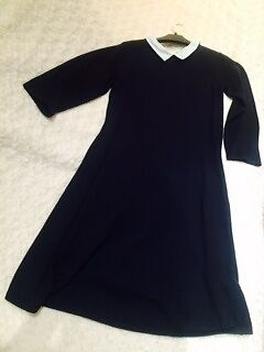 Maternity clothes bundlein Maida Vale, LondonGumtree - Maternity clothes bundle 2 dresses, knee level , dark blue loose with collar and black stretchy, 2 pairs of jeans (low bump and high bump) black and dark blue, 1 vest knitted black/ white. Suits office wear too. UK size 8. Can sell items separately...