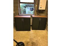 TWO OFFICE STYLE STORAGE CABINETS MADE IN GERMANY QUALITY ITEMS