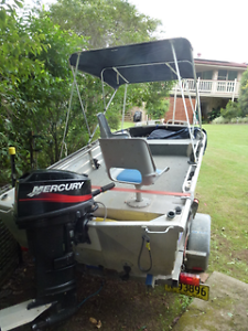 3.9m SeaJay Aluminium Tinny, 25HP Mercury & Sea-Link Trailer Wollongbar Ballina Area Preview