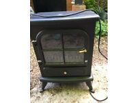 ELectric coal/log effect fire. Heat and cool settings. In good condition.