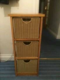 Wicker effect drawers