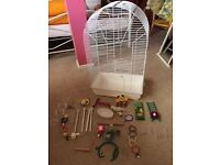 Large Bird Cage and many accessories