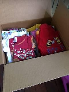 Giveaway 2 boxes of size 3-4 clothes