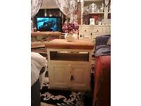 lovlely solid pine tv unit/sideboard/cupboard
