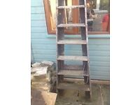 vintage wooden step ladder upcycling project