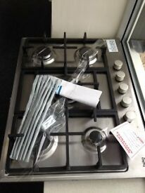 gas hob 5 burner stainless steel new/graded 12 mth gtee £135