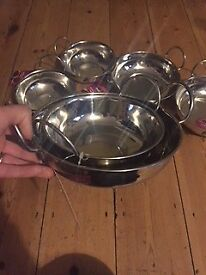 6 Balti bowls - unused with labels