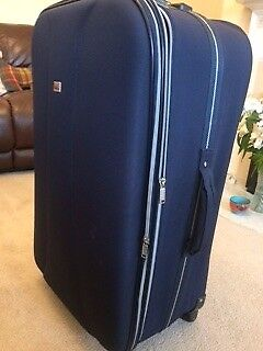 Large blue Fiori wheelie suitcase for sale