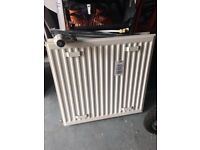 Radiator, 595mm x 600mm. White. USED, good condition