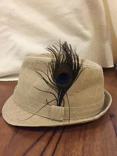 canvas hat with peacock feather Palmerston Gungahlin Area Preview