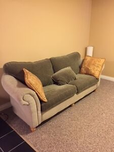 Two Tone Couch and Loveseat