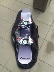 Snowboard, bindings, case-womans