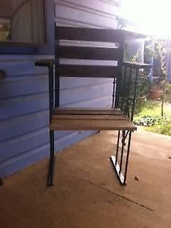 2 Rustic Outdoor Chairs