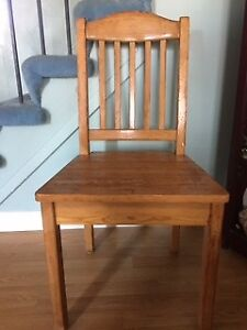 Wooden Chair Stained Natural/ClearGreat chair to do DIY -Paint/
