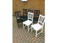 Six Wooden Chairs