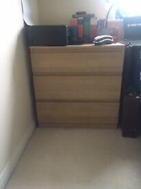 Light Oak effect chest of drawers